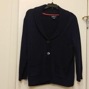 NWOT American Living Navy Knit Cardigan Sweater
